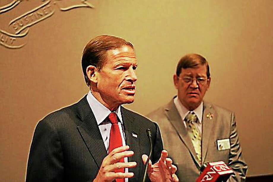 U.S. Sen. Richard Blumenthal. Photo: Hugh McQuaid — CT News Junkie