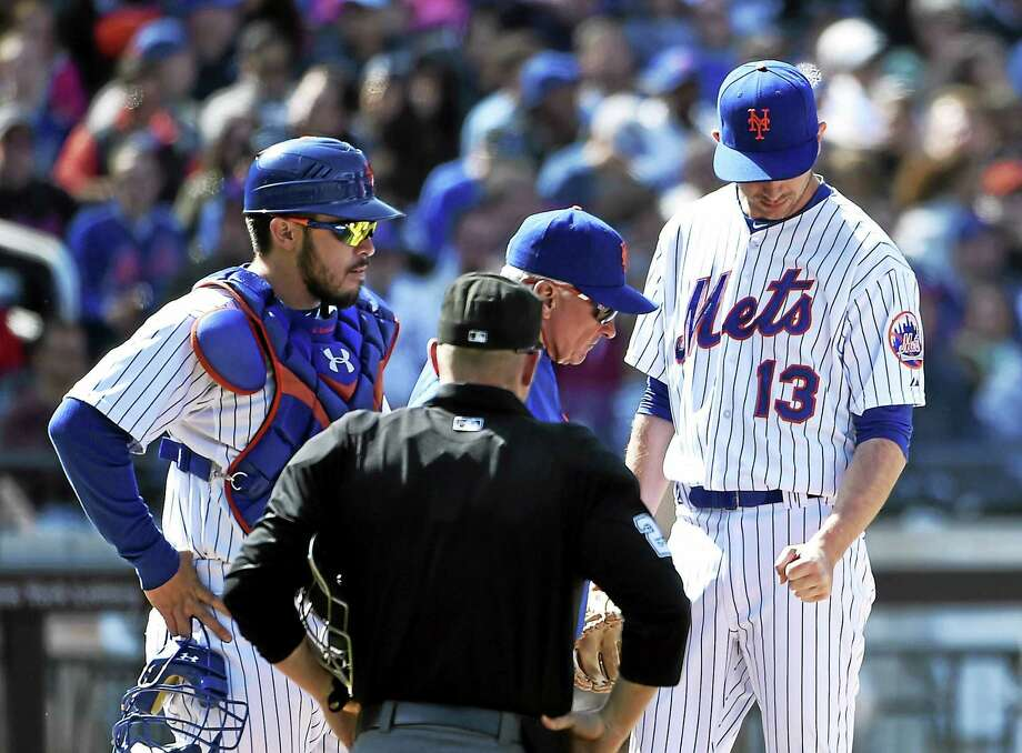 New York Mets lefty reliever Jerry Blevins re-broke his left arm after slipping off a curb. Photo: Kathy Kmonicek — The Associated Press File Photo  / FR170189 AP