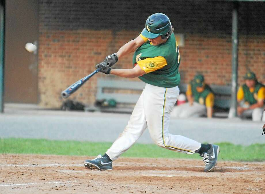 Jimmy Zanor - The Middletown Press RCP shortstop Cory Baldwin had three hits and three RBIs in Post 105's 10-6 win over Rochester (N.H.) on Thursday at Muzzy Field. Photo: Journal Register Co.