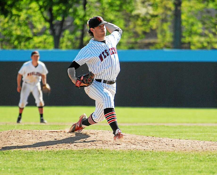 Wesleyan's Nick Cooney recently signed with the Fargo-Moorhead RedHawks in the independent American Association. Cooney is the Cardinals all-time strikeouts leader. Photo: Jimmy Zanor — Middletown Press