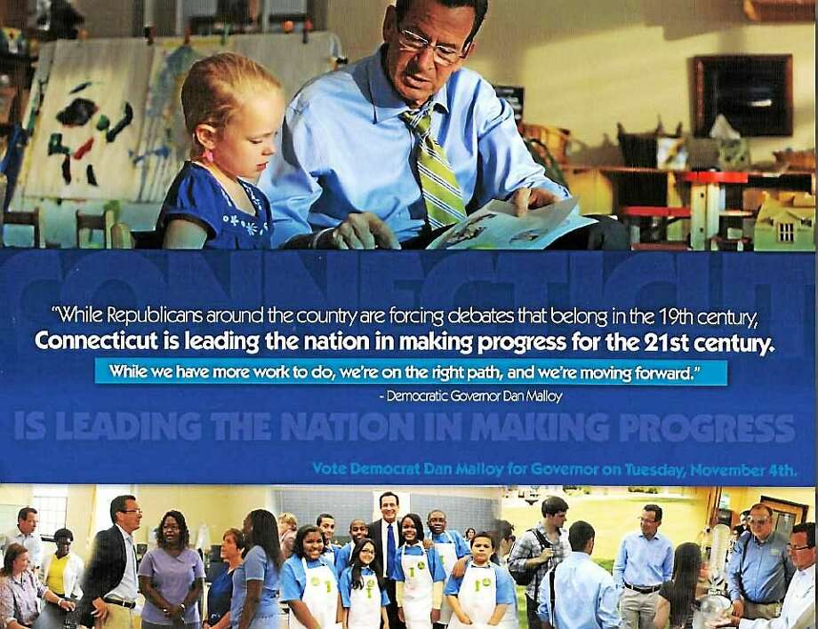 Dannel Malloy mailer Photo: Courtesy Of CT News Junkie