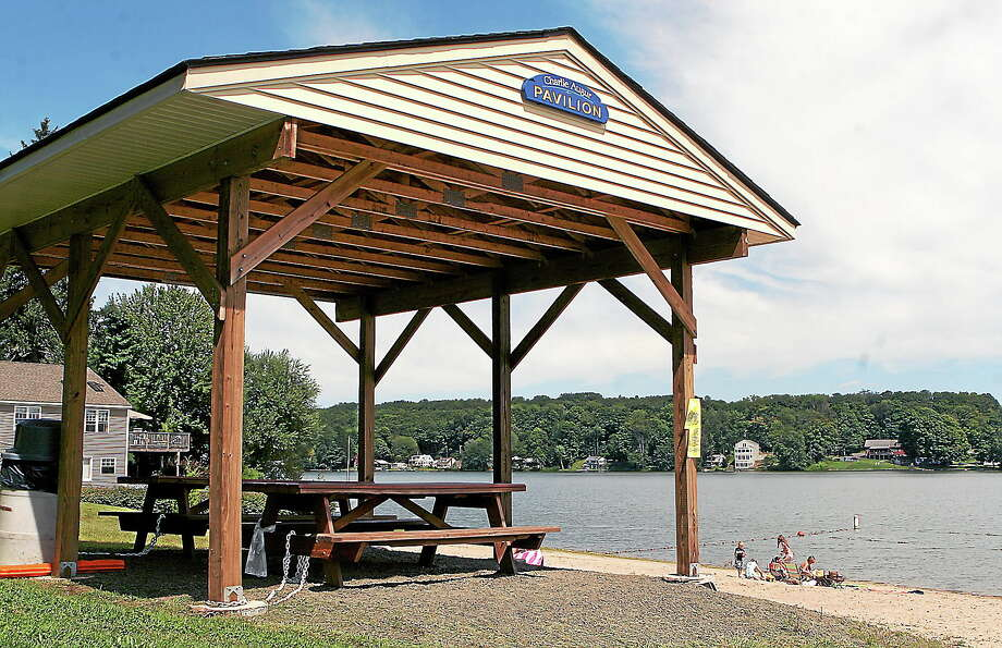 The pavilion at Lake Beseck Beach in Middlefield Photo: File