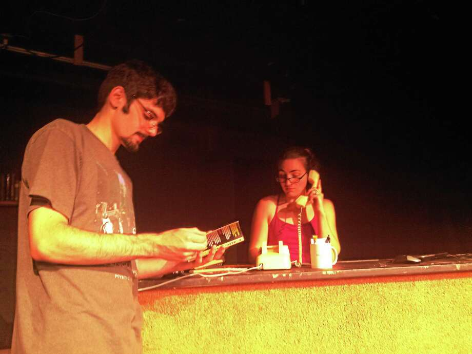 Submitted photo. Checked Out, an original one act play by Ben Martin and Sam Bolton, opens on Epoch Art's stage on Aug. 15 and 16. Photo: Journal Register Co.