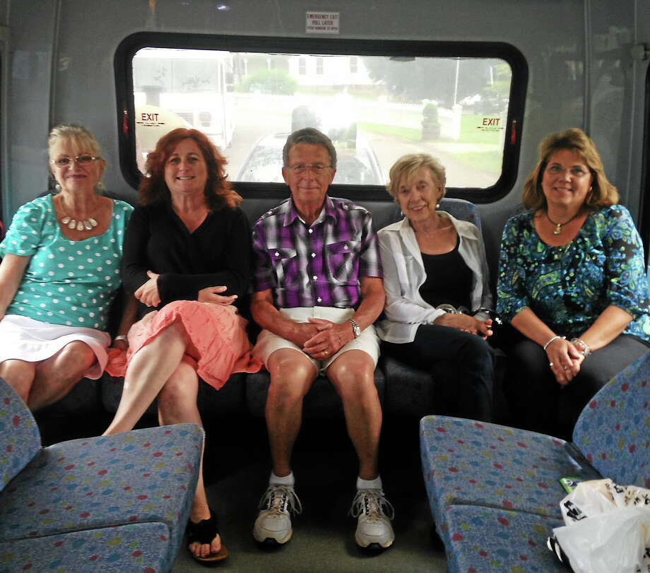 Area officials recently tested out a new transit route going from Durham to Tanger Outlets in Westbrook. Photo: Submitted Photo