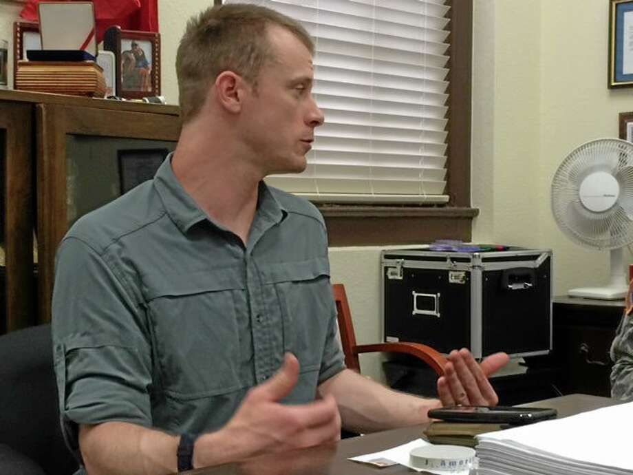This photo provided by Eugene R. Fidell  shows Sgt. Bowe Bergdahl preparing to be interviewed by Army investigators in August, 2014.  The U.S. Army has begun questioning Bergdahl about his disappearance in Afghanistan that led to five years in captivity by the Taliban, his attorney and an Army spokeswoman said Wednesday, Aug. 6, 2014. (AP Photo/Eugene R. Fidell) MANDATORY CREDIT Photo: AP / AP