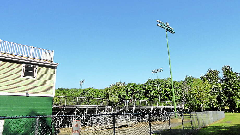 Palmer Field on Bernie O'Rourke Drive in Middletown will soon get a new public address system for football games. Photo: Cassandra Day - The Middletown Press