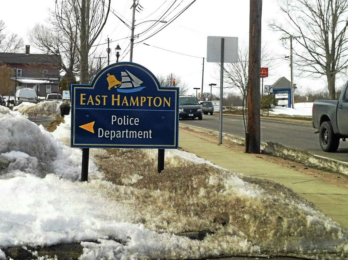 The entrance to the East Hampton Police Department.