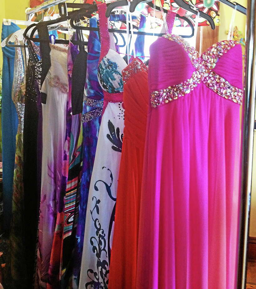 Some of the dresses girls at Portland High School this year can look forward to at Perfect Prom. Photo: Submitted Photo.