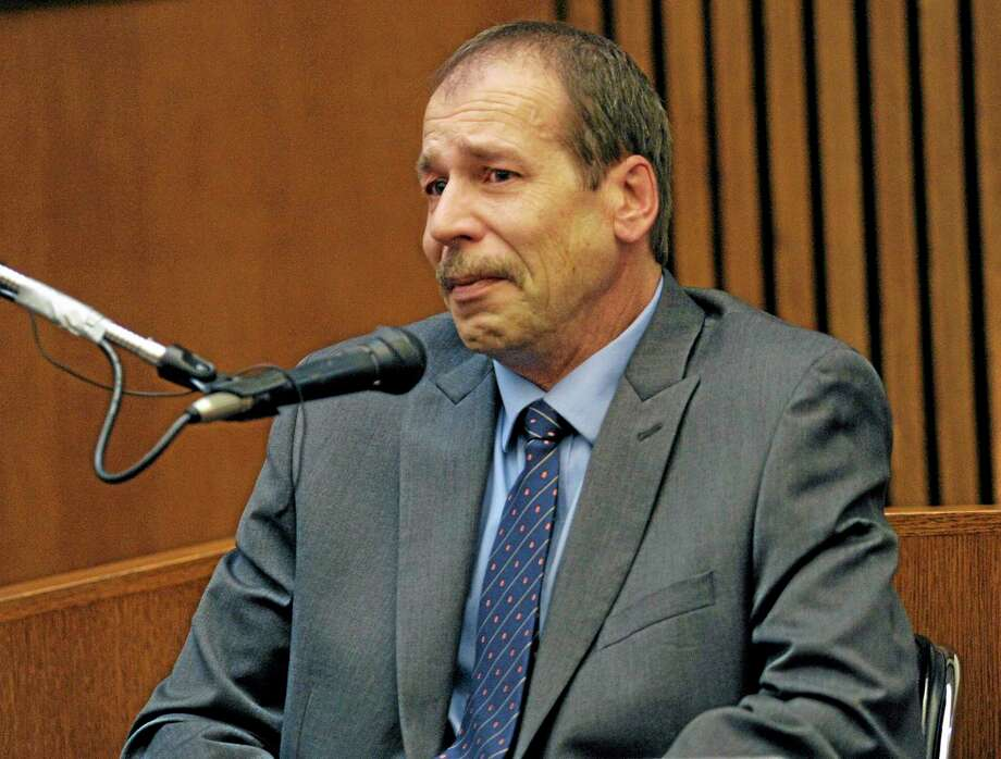 Theodore Wafer testifies in his own defense during the seventh day of testimony for the Nov. 2, 2013, killing of Renisha McBride, Monday, Aug. 4, 2014, in Detroit. He said he feared for his life when he fired at McBride on his porch in Dearborn Heights, Mich. Wafer is charged with second-degree murder and could be sentenced to up to life in prison with the chance for parole, if he's convicted. (AP Photo/Detroit News, Clarence Tabb Jr.) Photo: AP / Detroit News
