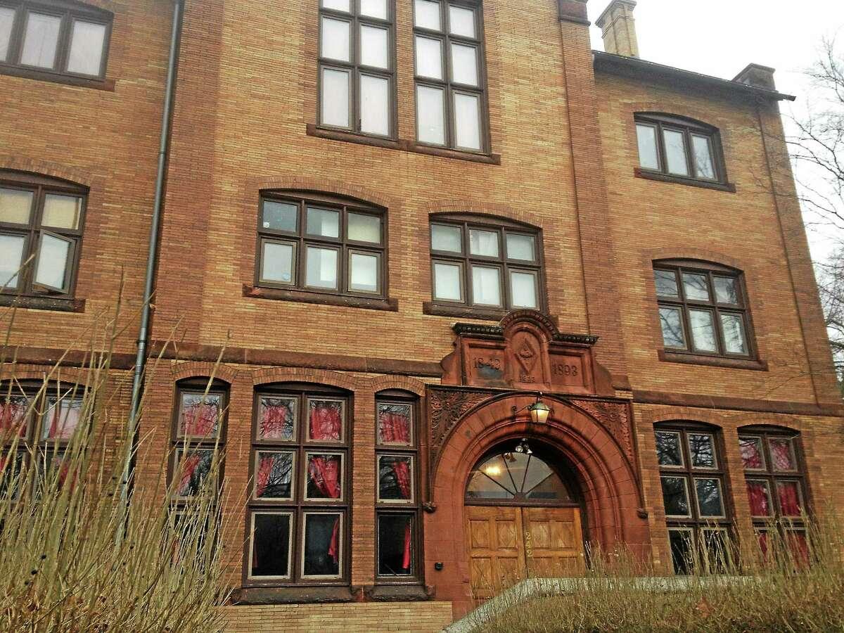 The Wesleyan University Psi Upsilon fraternity, 242 High St. in Middletown.