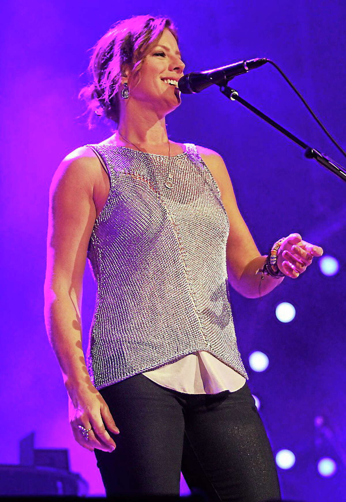 Photo by John Atashian Grammy winning singer and songwriter Sarah McLachlan is shown performing on stage during a
