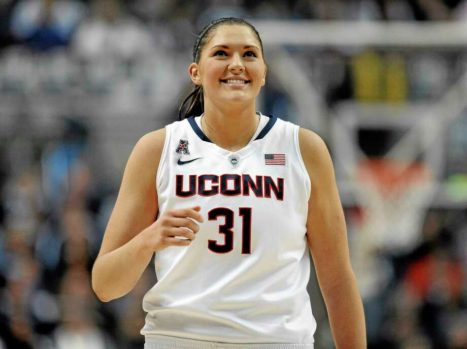 Stefanie Dolson and the UConn women's basketball team will look to wrap up an undefeated regular season Monday night against Louisville. Photo: Jessica Hill — The Associated Press  / FR125654 AP