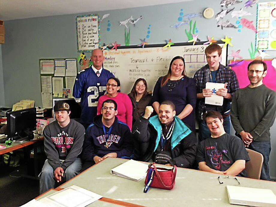 Chapel Haven, an award-winning school in New Haven for those on the autism spectrum and cognitive disabilities, received some of the donated iPads. Photo: Journal Register Co.