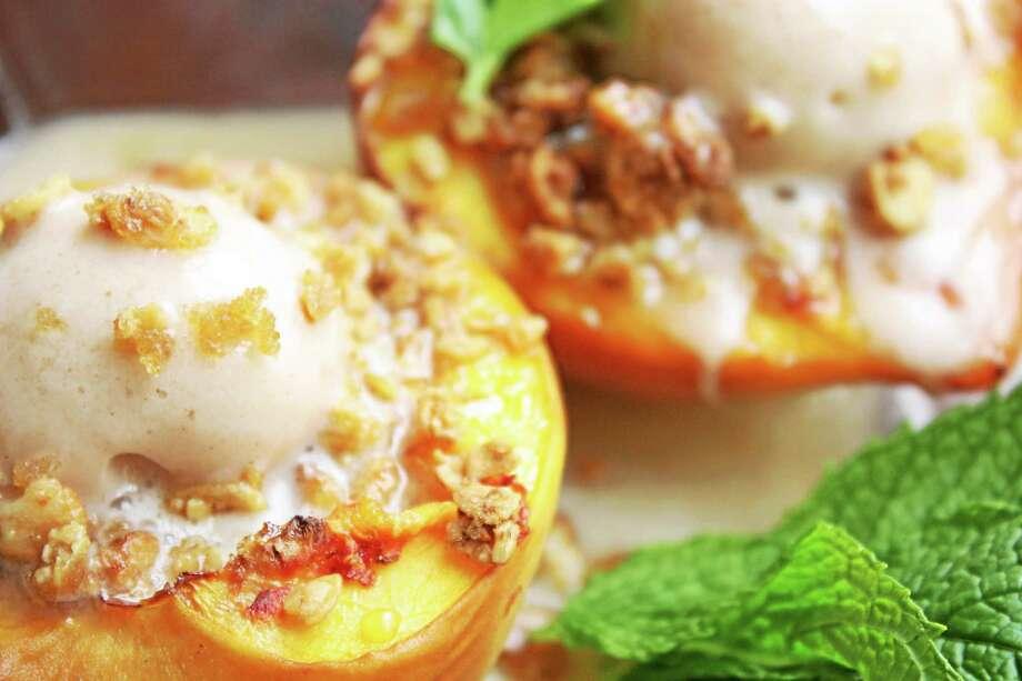 I.O.N. Restaurant on Main Street in Middletown offers this peach cobbler recipe. Photo: Courtesy I.O.N. Restaurant