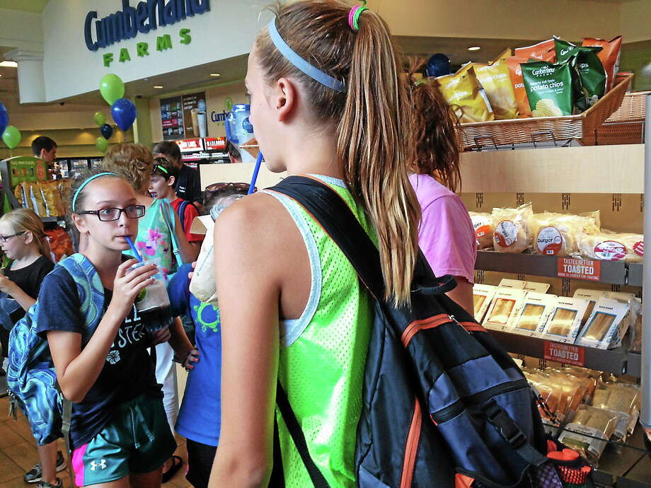 Cumberland Farms held a grand opening in Portland Monday. Photo: Jeff Mill - The Middletown Press