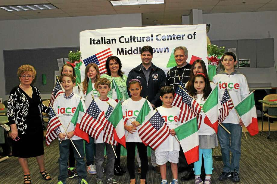About 10 children ages 7-13 who study at the city's Italian American Committee on Education program joined Middletown Mayor Dan Drew, former Mayor Sebastian Giuliano, IACE coordinator Rose Aresco and teacher Michela Pirruccio for a morning Skype session with a Melilli, Sicily, classroom. Photo: Submitted Photo