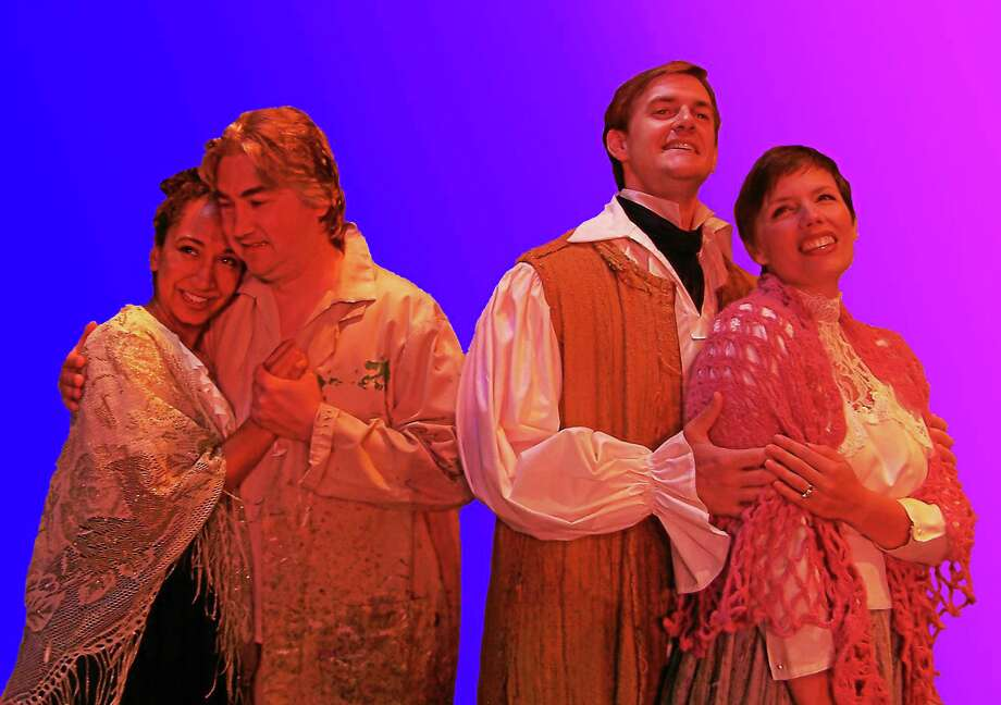 "Members of the cast of ""La Boheme"" perform a scene from the timeless opera by Puccini. It will be staged at the Andrews Memorial Theater in Clinton Aug. 5-10. Photo: Journal Register Co."