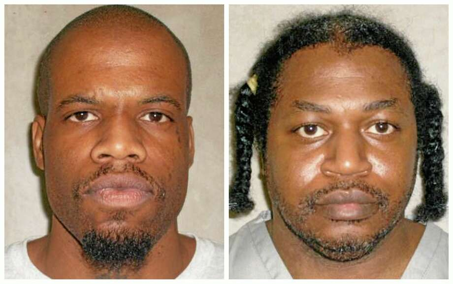 FILE - This file photo combo of images provided by the Oklahoma Department of Corrections shows Clayton Lockett, left, and Charles Warner. Lockett and Warner, two death row inmates whose executions were delayed while they challenged the secrecy behind the state's lethal injection protocol, are scheduled to die Tuesday, April 29, 2014, in Oklahoma's first double execution in nearly 80 years. (AP Photo/Oklahoma Department of Corrections, File) Photo: AP / Oklahoma Department of Corrections