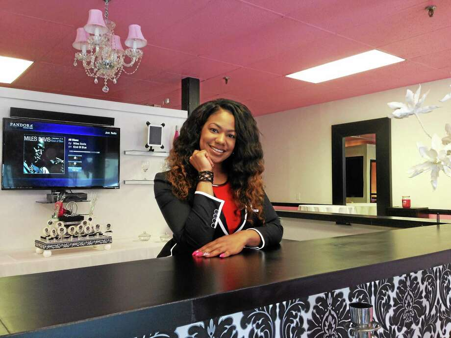 Doris Perry, 27, is a graduate of Side Street to Main Street and is opening her own salon, D'Yaze Hair Bar, on Washington Street. Photo: Kaitlyn Schroyer — The Middletown Press