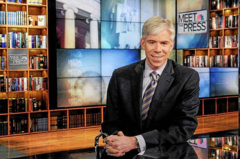 "This Feb. 24, 2013, photo shows moderator David Gregory on the set of ""Meet the Press"" in Washington. Photo: The Associated Press — NBC, William B. Plowman     / NBC News"