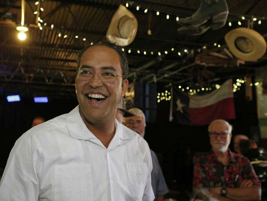 U.S. Rep. Will Hurd, R-Helotes, talks with audience members during the final stop on his third annual DC to DQ town hall meetings held Aug. 12 at John T. Floore's Country Store. Photo: Edward A. Ornelas /San Antonio Express-News / © 2017 San Antonio Express-News