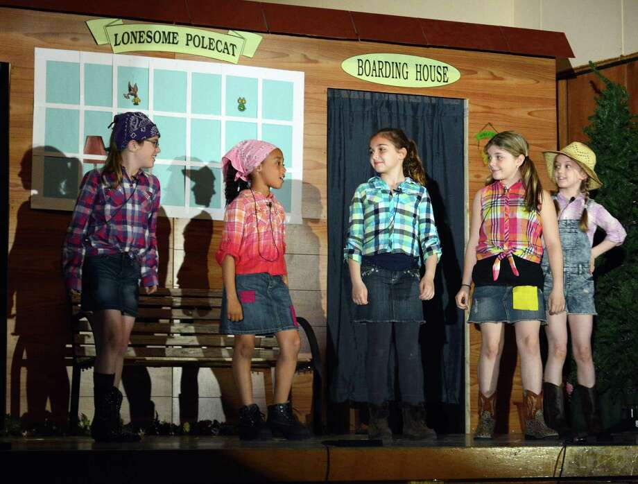Kaitlyn Schroyer - The Middletown Press Students in grades three to eight at St. John Paul 11 Regional Catholic School will be performing Hee Haw Hayride on Friday, April 25 and Saturday, April 26 in the school auditorium. This production will be their first play as a new school. Photo: Journal Register Co.