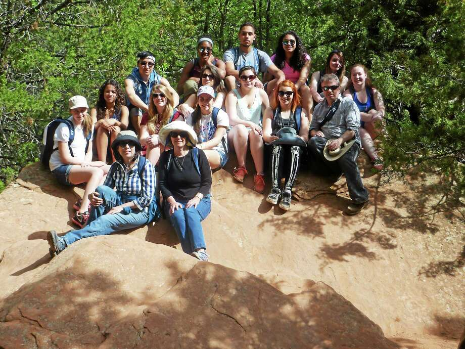 Submitted photo Middletown High School art students, along with art teachers Patrick Shugrue and Charlotte McCoid, visited three national parks on a drawing and painting learning experience during April vacation. Photo: Journal Register Co.