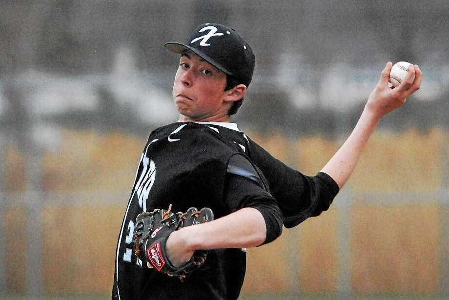 Bill O'Brien - Special to the Press   Xavier sophomore pitcher Miles Michaud earned a win in his first varsity start Tuesday at Branford. Photo: Journal Register Co.