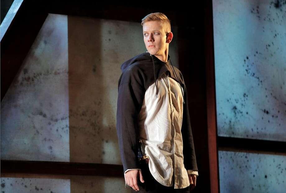 """Edward Nelson in Ambroise Thomas' """"Hamlet"""" at West Edge Opera Photo: Cory Weaver"""