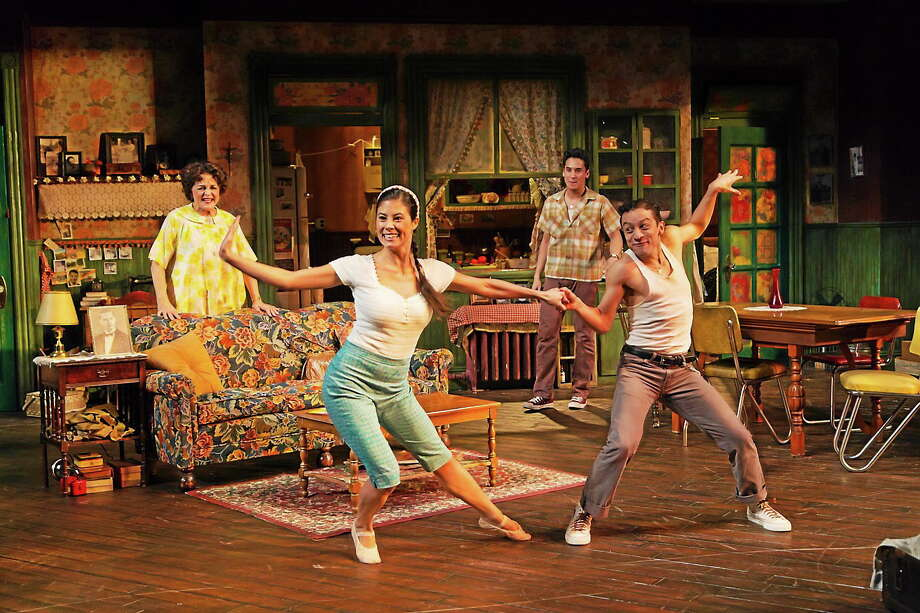 Photo by T. Charles Erickson  Priscilla Lopez, Jessica Naimy, Michael Rosen and Zachary Infante in Somewhere at Hartford Stage. Photo: Journal Register Co.