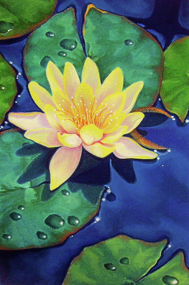 Glistening Pastel by Jo McGinnis of West Hartford is in the spring show at Maple and Main Gallery. Photo: Journal Register Co.