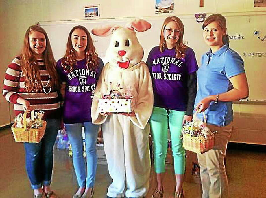 Mercy High School students were able to assemble 956 ìBunny Bundlesî to distribute to various organizations. Kaitlyn Schroyer ó The Middletown Press Photo: Journal Register Co.