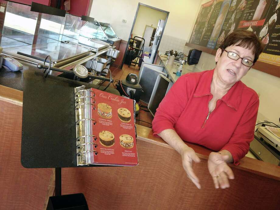 Middletown resident Priscilla Harnesk, owner of Cold Stone Creamery closed Sunday after nine years in business. Photo: Catherine Avalone — The Middletown Press
