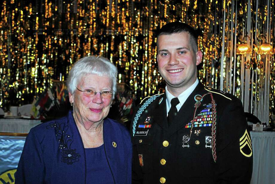 Courtesy East Hampton Lions Club Ann McLaughlin, with her grandson Aaron, is East Hampton's Citizen of the Year. Photo: Journal Register Co.