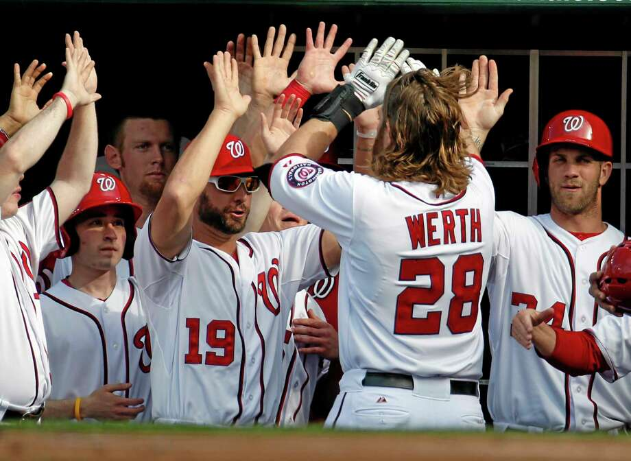 Jayson Werth and the Washington Nationals are the No. 1 team in the first Register Rankings of the season. Photo: Alex Brandon — The Associated Press  / AP