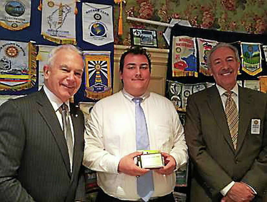 Submitted photo From left, Middletown Rotary Club President Garry Mullaney, student of the month Salvatore Nesci and Middletown Rotarian Joseph Marino. Photo: Journal Register Co.