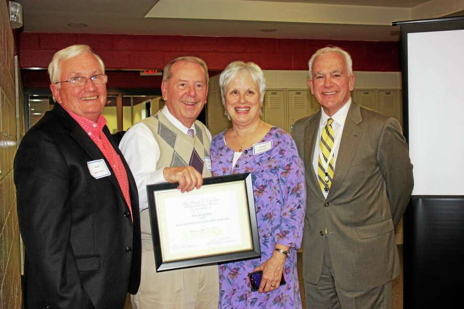 David Bolio of Holy Apostles College and Seminary was presented with The David J. Carlson Humanitarian Award. Photo: Submitted Photo