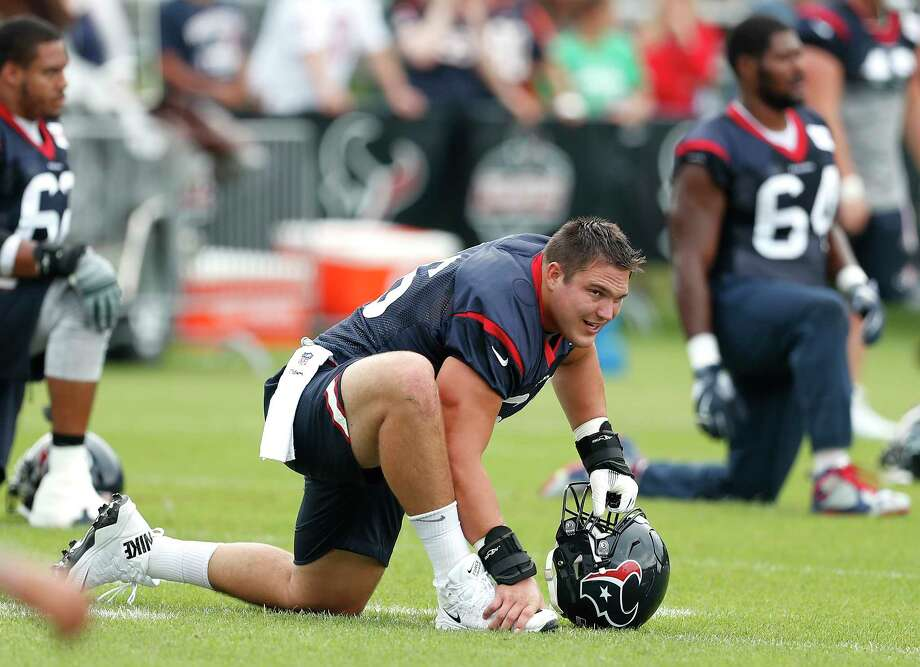 Texans center Nick Martin grew up in Indianapolis. So it would follow that his favorite player was Colts Pro Bowl center Jeff Saturday, who was a stickler for technique, just like Martin. Photo: Brett Coomer, Staff / © 2017 Houston Chronicle}