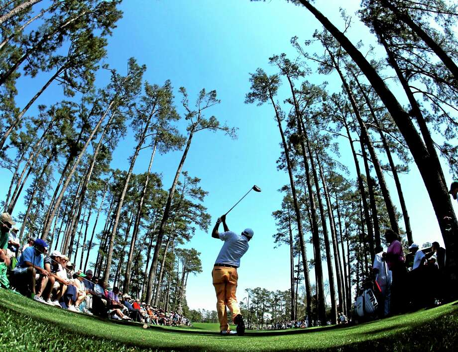 Bill Haas tees off on the 17th hole during the first round of the Masters on Thursday. Photo: Matt Slocum — The Associated Press  / AP