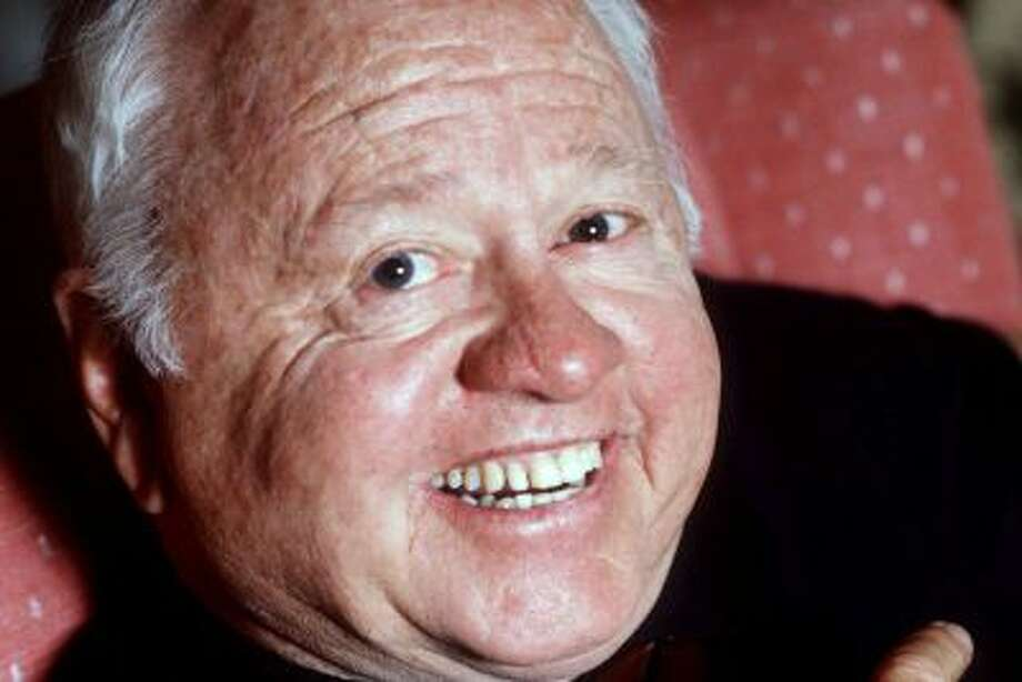 FILE - Entertainer Mickey Rooney is shown in this May 1987 file photo. Rooney, a Hollywood legend whose career spanned more than 80 years, has died. He was 93. Los Angeles Police Commander Andrew Smith said that Rooney was with his family when he died Sunday, April 6, 2014, at his North Hollywood home. (AP Photo/File) Photo: AP / A1987