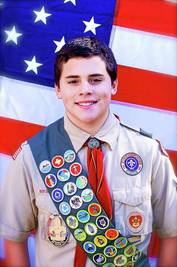 Courtesy Annette Guasp Austin Guasp, 16, is a sophomore at Xavier High School in Middletown and will be awarded his Eagle Scout after a ceremony in May. Photo: Journal Register Co.