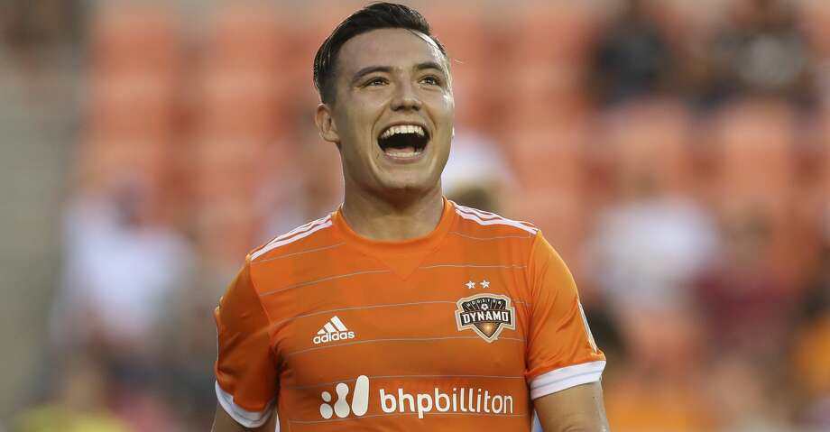Erick Torres is one goal away from matching Brian Ching's club record of 13 goals in a single season. Photo: Yi-Chin Lee/Houston Chronicle