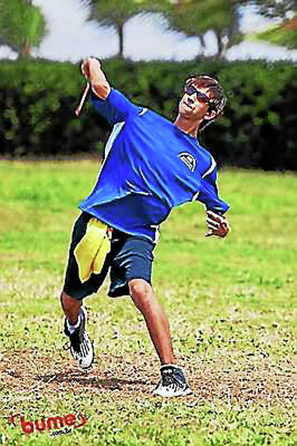 Higganum native and Wethersfield resident Adam Stankiewicz, who is about to travel to Perth Australia for the 2014 World Boomerang Championships Submitted Photo Photo: Journal Register Co.