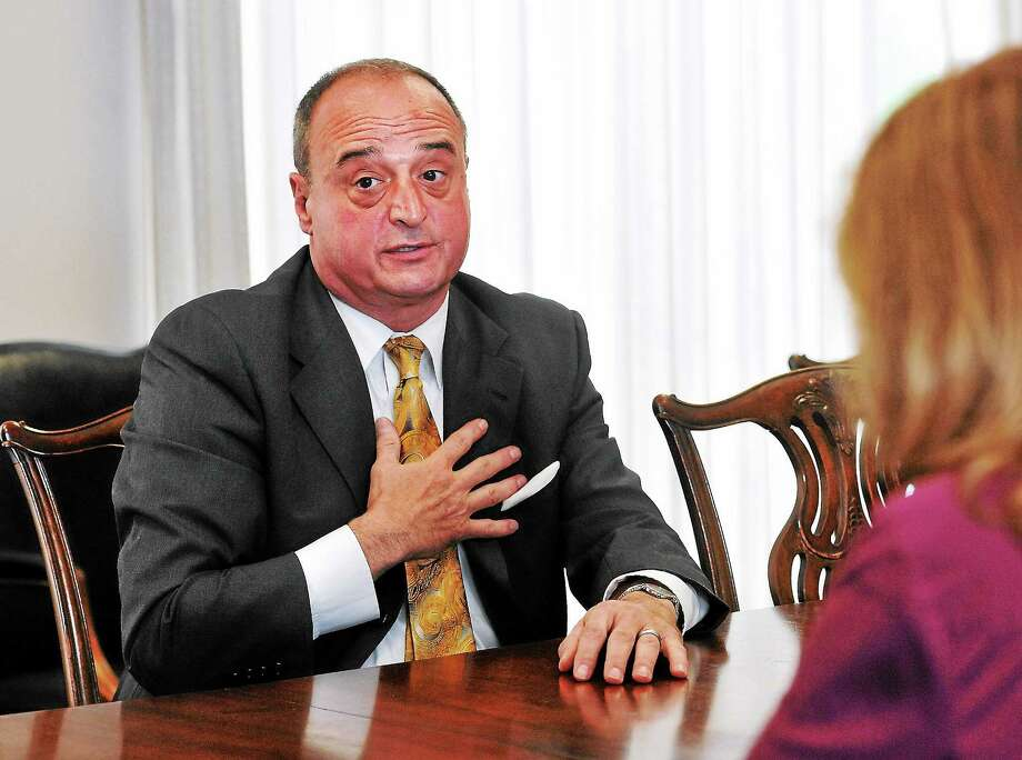 New Haven--  CT House Republican leader Larry Cafero speaks to the New Haven Register editorial board.  Photo-Peter Casolino/Register ¬ pcasolino@newhavenregister.com ¬  ¬  ¬  ¬  ¬  ¬  ¬  ¬  ¬  ¬  ¬  ¬  ¬  ¬  ¬  ¬  ¬ Photo: Journal Register Co.