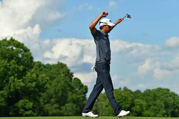Kevin Kisner had a double bogey on the 16th hole but managed to end play Saturday holding a one-stroke lead at the PGA Championship at Quail Hollow Club in Charlotte, N.C.