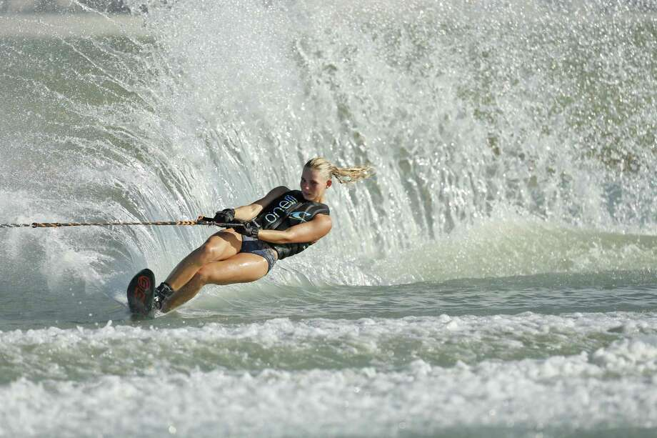 Bailey Grathwohl in the Salom completion at 75th USA Water Ski National Championships. on Saturday, August 12, 2017 at San Marcos River Ranch, 3301 Skull Road Martindale, TX Photo: Ron Cortes, Freelance / For The San Antonio Express-News / Ronald Cortes / Freelance