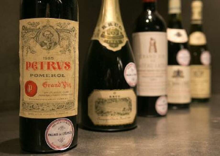 A bottle of Chateau Petrus 1985.