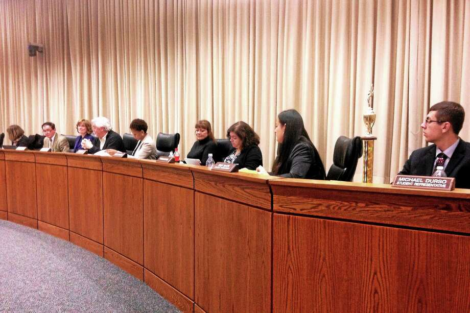 Alex Gecan - The Middletown Press ¬ The Board of Education discussed facility upgrades, grant funding and standardized tests at its regular meeting Tuesday at City Hall. Photo: Journal Register Co.