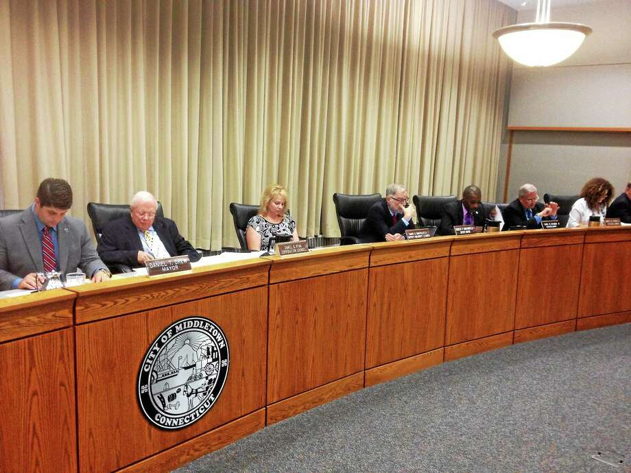 Middletown's common council met Monday evening at city hall. Photo: Alex Gecan - The Middletown Press
