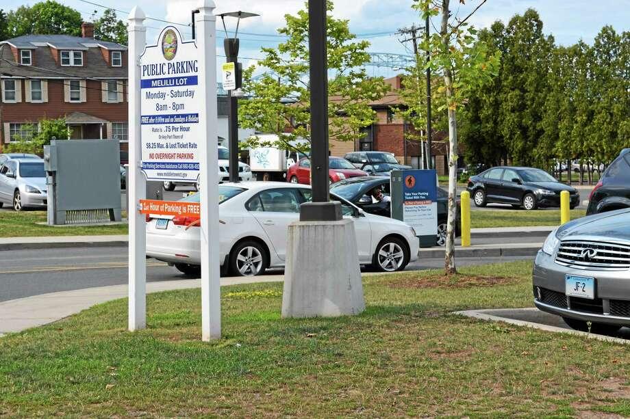 Middletown's Melilli Plaza parking area Photo: Cassandra Day - The Middletown Press